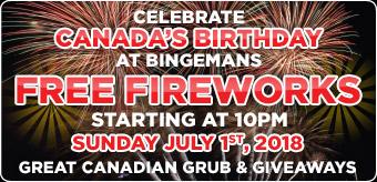 Canada Day Fireworks - 2018