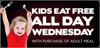 Kids eat FREE on Wednesday