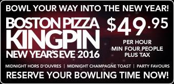 Boston Pizza Kingpin New Year
