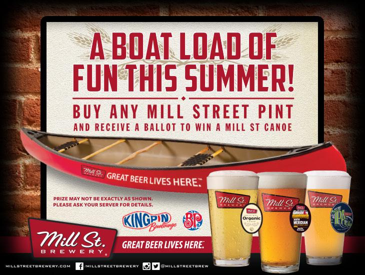 Mill St. Canoe Promotion